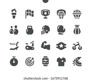 Sport v2 UI Pixel Perfect Well-crafted Vector Solid Icons 48x48 Ready for 24x24 Grid for Web Graphics and Apps. Simple Minimal Pictogram