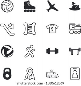 sport vector icon set such as: mass, tshirt, wetsuit, bubble, palm, license, rear, sprint, staff, arm, flight, accident, account, sports, surf, subway, stair, youth, name, number, staircase, boot