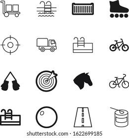 sport vector icon set such as: fast, goods, animal, powder, roadside, roller, freight, bodybuilding, package, fight, nature, vintage, horse, pilates, avenue, map, supplements, training, highway, box