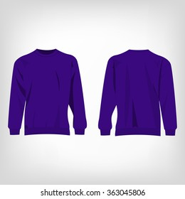 Sport violet sweater isolated vector
