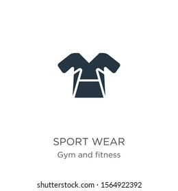 Sport wear icon vector. Trendy flat sport wear icon from gym and fitness collection isolated on white background. Vector illustration can be used for web and mobile graphic design, logo, eps10