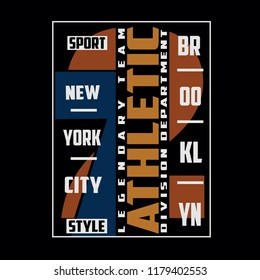 Sport,athletic typography vector illustration for t shirt