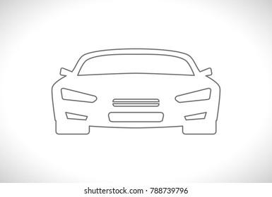sportcar design outline icon