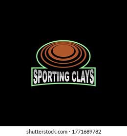 sporting clays vector emblem logo design