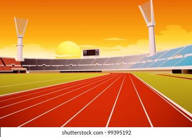 Sporting stadium illustration in detail