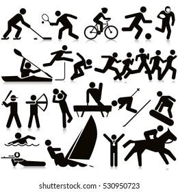 Sports Activities Travel Icon Set