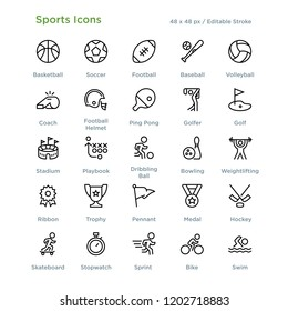 Sports Athletics Games Icon Outline