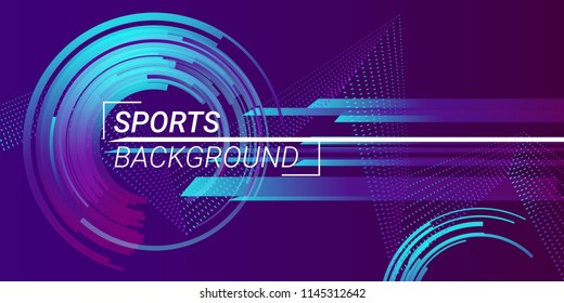 Sports background vector illustration. Trendy vector sports banner.