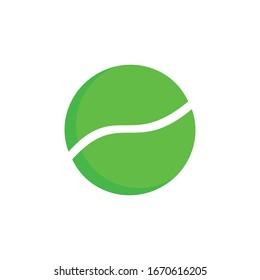 sports ball, tennis ball icon vector illustration