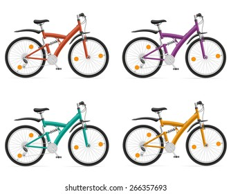 sports bikes with the rear shock absorber vector illustration isolated on white background