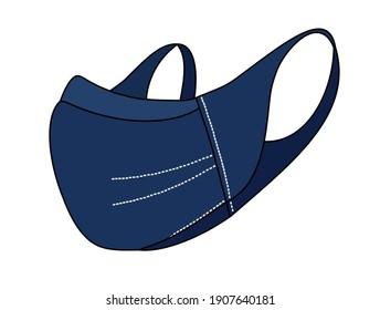 sports blue mask isolated on white background
