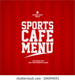 Sports Cafe Menu card design template.