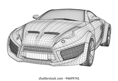 Car blueprint images stock photos vectors shutterstock sports car blueprint non branded concept car malvernweather Image collections