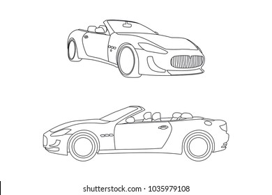 Sports Car Outline Images Stock Photos Vectors Shutterstock