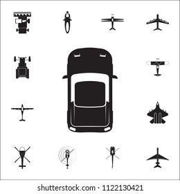 Sports car icon. Detailed set of Transport view from above icons. Premium quality graphic design sign. One of the collection icons for websites, web design, mobile app on white background