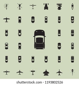 Sports car icon. Transport view from above icons universal set for web and mobile