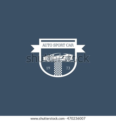 Sports Car Logo Emblems Badges Icons Stock Vector Royalty Free