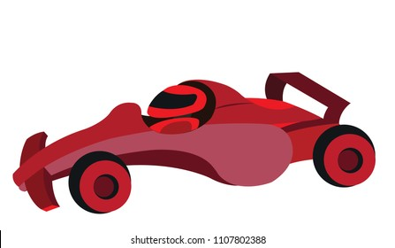 A Sports car ready to race,
