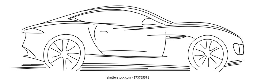 Audi car stock vectors images vector art shutterstock sports car sketch blueprint malvernweather Choice Image