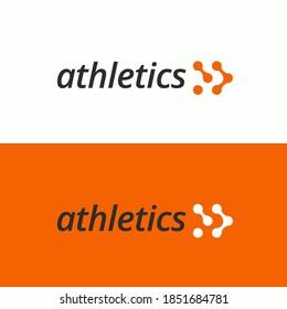 Sports center minimalist flat logo