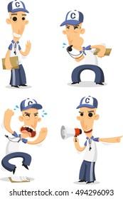 Sports Coach set vector Cartoon