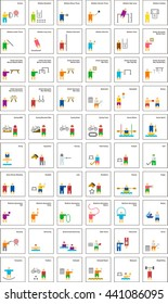 SPORTS colored flat icons - Shutterstock ID 441086095