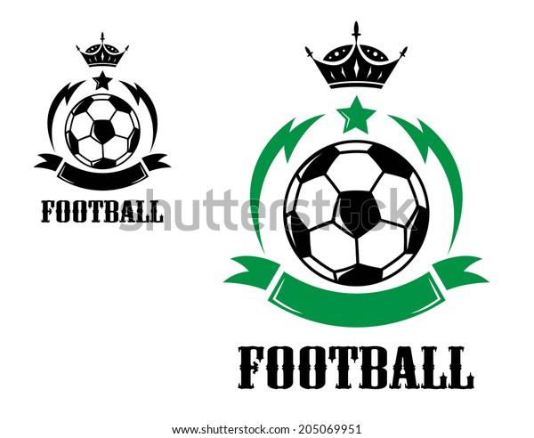 Sportcresten Oder Embleme Oder Logo Mit Stock Vektorgrafik