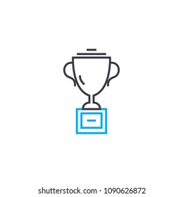 Sports Cup Vector Thin Line Stroke Icon Outline Illustration Linear Sign