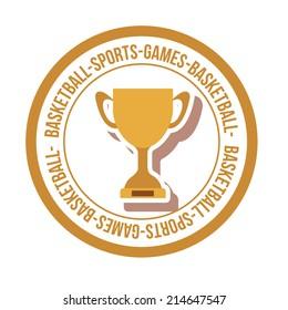 Sports design over white background, vector illustration