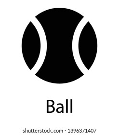 Sports equipment, ball solid icon