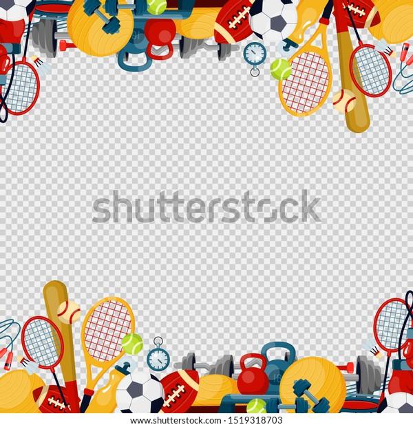 Sports Equipment Flat Vector Illustration Fitness Stock Vector Royalty Free 1519318703