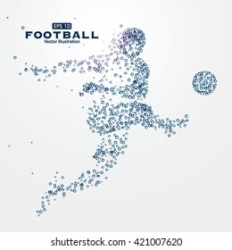 Sports Graphics particles, vector illustration.