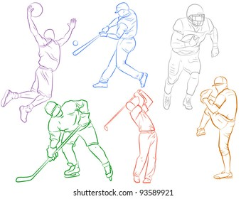 Sports Icons - Drawn Modern