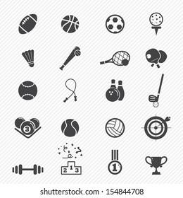Sports Icons  isolated on white background