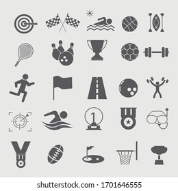 Sports icons set vector illustration symbol for website and graphic design