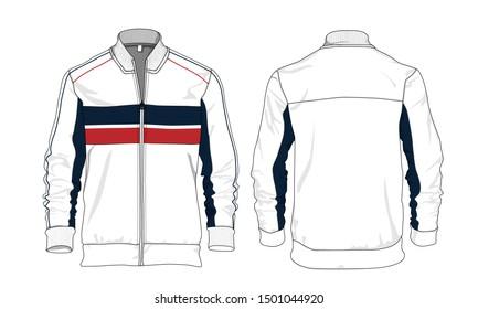 Sports jacket design winter sweater vector