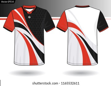 Sports Jersey template for team uniforms