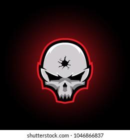 sports logo headshot skull