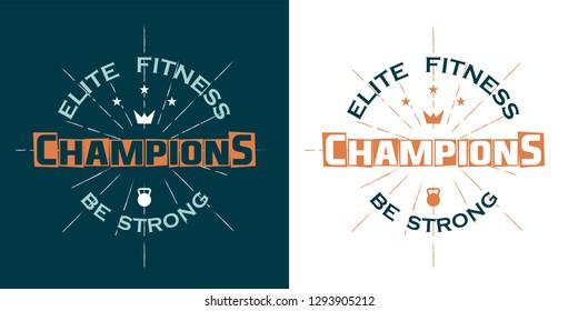 Sports logo vintage style, Champioons team