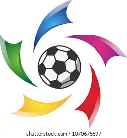 Sports logo, which can used to represent a soccer(football) team/club.