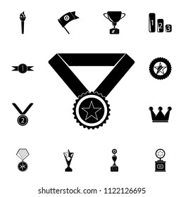 sports medal with a star icon. Detailed set of Sucsess and awards icons. Premium quality graphic design sign. One of the collection icons for websites, web design, mobile app on white background