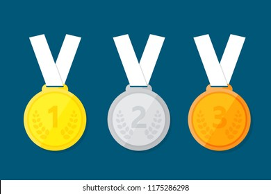 Sports medal for the top three winners.