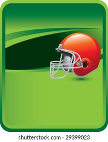 sports message board with american football helmet