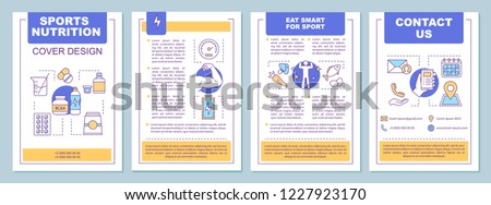 sports nutrition brochure template layout bcaa stock vector royalty