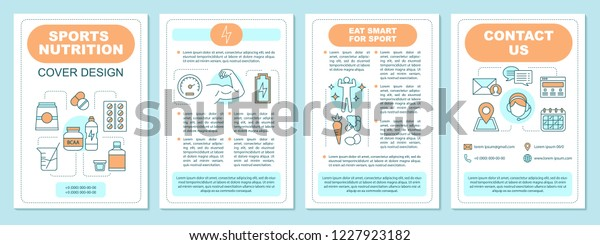 Sports Nutrition Brochure Template Layout Bcaa Stock Vector Royalty Free 1227923182