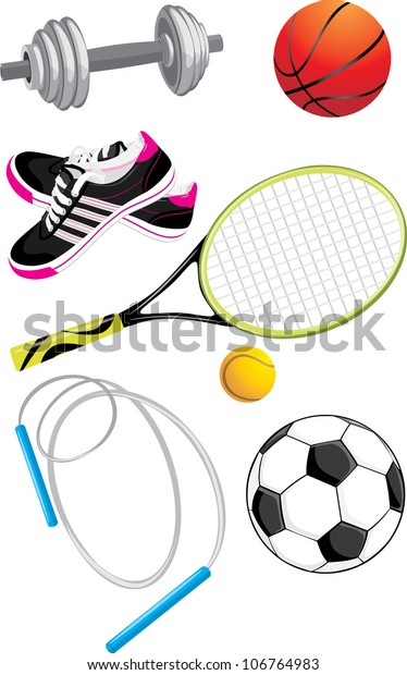 sports-objects-isolated-on-white-600w-10