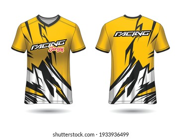 Sports Racing  Jersey Design Template for Team Uniforms Vector