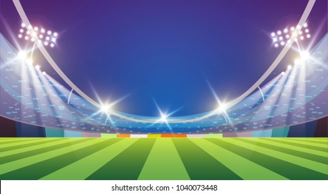 Sports stadium with lights, eps 10