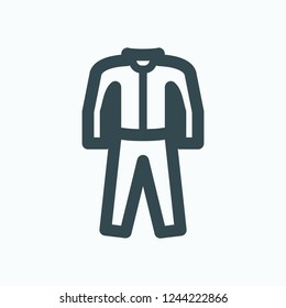 Sports suit vector icon