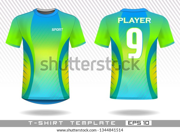 Sports T Shirt Template Uniform Design Stock Vector (Royalty